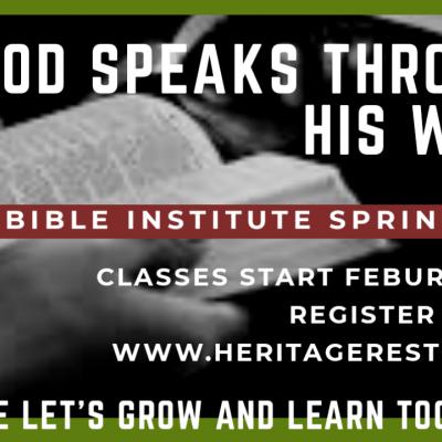 Bible Institute Spring Semester February 23rd