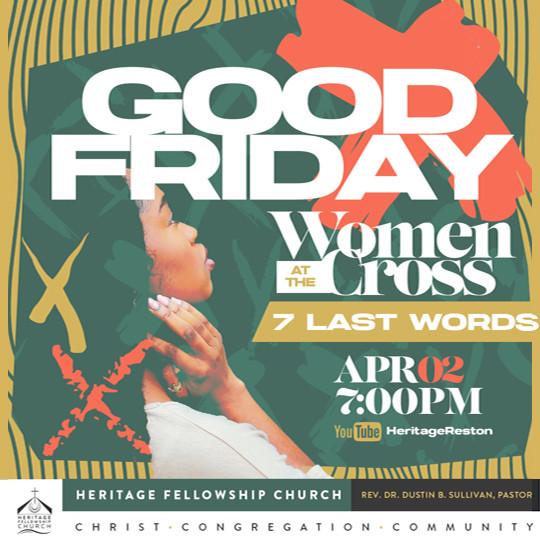 Good Friday Service, 7:30pm April 2